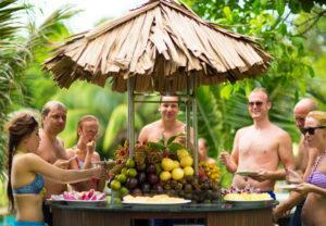 buffet trái cây hòn tằm