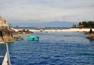 bãi ngắn tại đảo yến