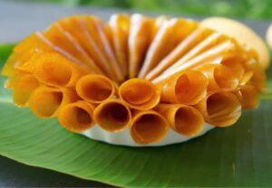 cách ăn bánh xoài Nha Trang