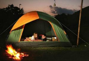 cắm trại tại hòn bà