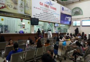 phòng bán vé tại ga nha trang