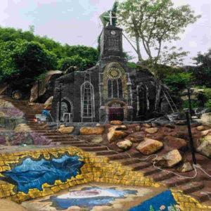 mô hình nhà thờ đá