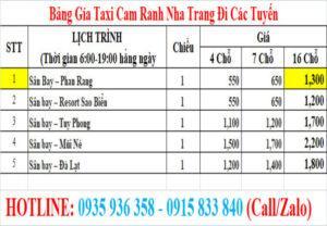 Taxi san bay cam ranh