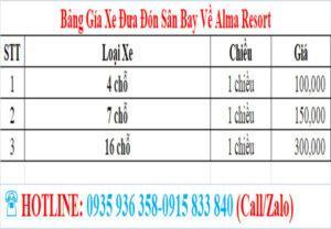 xe don san bay ve alma resort